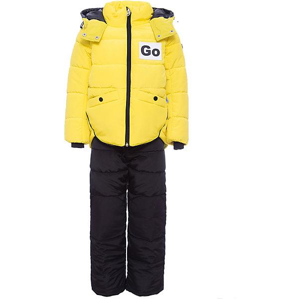 Комплект: куртка и полукомбинезон BOOM by Orby для девочкиВерхняя одежда<br>Характеристики товара:<br><br>• цвет: желтый<br>• комплектация: куртка, полукомбинезон <br>• состав ткани: твил pu milky<br>• подкладка: хлопок, флис, полиэстер пуходержащий<br>• утеплитель: Flexy Fiber, эко синтепон<br>• сезон: зима<br>• температурный режим: от 0 до -30С<br>• плотность утеплителя: куртка - 400 г/м2, полукомбинезон - 200 г/м2<br>• капюшон: без меха<br>• застежка: молния<br>• страна бренда: Россия<br>• страна изготовитель: Россия<br><br>Оригинальный зимний комплект для детей поможет обеспечить ребенку комфортный уровень утепления. Детский теплый комплект состоит из куртки и полукомбинезона. Комплект для девочки дополнен удобным капюшоном и карманами. Этот зимний детский комплект создан специально для девочек. <br><br>Комплект: куртка и полукомбинезон для девочки BOOM by Orby (Бум бай Орби) можно купить в нашем интернет-магазине.<br>Ширина мм: 356; Глубина мм: 10; Высота мм: 245; Вес г: 519; Цвет: желтый; Возраст от месяцев: 12; Возраст до месяцев: 18; Пол: Женский; Возраст: Детский; Размер: 86,122,116,110,104,98,92; SKU: 7091065;