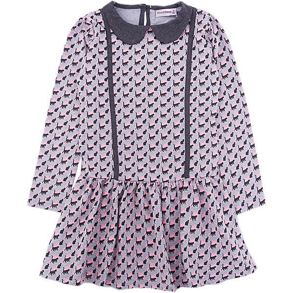 Платье Sweet Berry для девочкиОсенне-зимние платья и сарафаны<br>Характеристики товара:<br><br>• цвет: серый;<br>• состав материала: 95% хлопок, 5% эластан;<br>• сезон: демисезон;<br>• застежка: пуговица на спинке;<br>• с длинным рукавом;<br>• декорировано рисунком;<br>• страна бренда: Россия<br>• страна производства: Китай<br><br>Трикотажное платье для девочки из мягкой хлопковой ткани с печатным рисунком, отложным воротничком. Застегивается на спинке на пуговку.<br><br>Платье Sweet Berry (Свит Берри) для девочки можно купить в нашем интернет-магазине.<br>Ширина мм: 236; Глубина мм: 16; Высота мм: 184; Вес г: 177; Цвет: серый; Возраст от месяцев: 24; Возраст до месяцев: 36; Пол: Женский; Возраст: Детский; Размер: 98,128,122,116,110,104; SKU: 7094115;