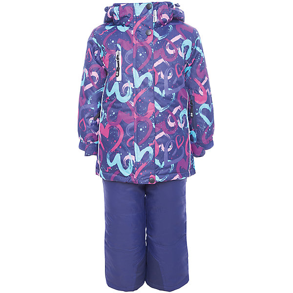 Комплект: куртка и полукомбинезон Sweet Berry для девочкиВерхняя одежда<br>Характеристики товара:<br><br>• цвет: фиолетовый;<br>• комплектация: куртка и брюки ;<br>• ткань верха: куртка 100% полиэстер, брюки 100% нейлон;<br>• подкладка: 100% полиэстер, флис;<br>• наполнитель: 100% полиэстер;<br>• утеплитель: куртка 220 г/м? рукава куртки и полукомбинезон 180 г/м? (синтепух);<br>• сезон: зима<br>• температурный режим: от 0 до -35С;<br>• водонепроницаемость: 5000 мм;<br>• воздухопропускаемость: 5000г/м2;<br>• особенности модели: с капюшоном;<br>• капюшон: съемный, без меха;<br>• дополнительная утяжка на капюшоне;<br>• рукава с регулируемыми манжетами на липучках;<br>• застежка: молния с защитой подбородка;<br>• ветрозащитная планка;<br>• два кармана на молнии на куртке;<br>• регулируемые подтяжки на брюках;<br>• усиленные вставки из сверхпрочного материала;<br>• съемные силиконовые штрипки;<br>• страна бренда: Россия;<br>• страна производства: Китай.<br><br>Комфортный и теплый костюм из мембранной ткани. В конструкции учтены физиологические особенности малыша. Съемный капюшон на молниях с дополнительной утяжкой, спереди установлены две кнопки. Рукава с манжетами, регулируются липучкой. На куртке два кармана, застегивающиеся на молнию. Застежка-молния с внешней ветрозащитной планкой. <br><br>Брюки на регулируемых подтяжках гарантируют посадку по фигуре. Колени, задняя поверхность бедер и низ брюк дополнительно усилены сверхпрочным материалом. Силиконовые отстегивающиеся штрипки на брючинах. Ткань верха: мембрана 5000мм/5000г/м2/24h, waterproof, водонепроницаемая с грязеотталкивающей пропиткой.<br><br>Комплект: куртка и брюки Sweet Berry (Свит Берри) для девочки можно купить в нашем интернет-магазине.