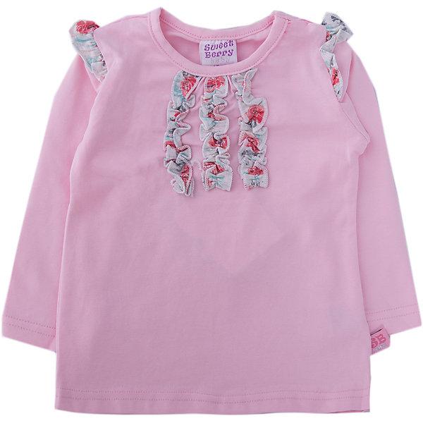 Sweet Berry Футболка с длинным рукавом Sweet Berry для девочки лонгслив для девочки batik цвет розовый ds0143 4 размер 140