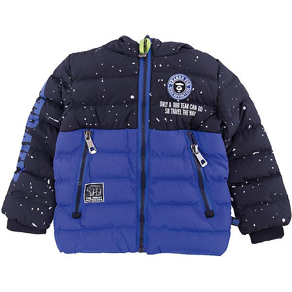 Куртка Sweet Berry для мальчикаВерхняя одежда<br>Характеристики товара:<br><br>• цвет: синий;<br>• ткань верха: 100% полиэстер;<br>• подкладка: 100% полиэстер, искусственный мех;<br>• наполнитель: 100% полиэстер;<br>• сезон: зима;<br>• температурный режим: от +5 до -15С;<br>• особенности модели: стеганая, с капюшоном;<br>• капюшон: без меха, несъемный;<br>• капюшон декорирован солнечными очками;<br>• застежка: молния с защитой подбородка;<br>• рукава на трикотажных манжетах;<br>• два кармана на молнии;<br>• страна бренда: Россия;<br>• страна производства: Китай.<br><br>Утепленная стеганная куртка для мальчика выполнена из двух контрастных цветов. Несъемный капюшон декорирован солнцезащитными очками. Два прорезных кармана застегивающиеся на молнию. Рукава с мягкими трикотажными манжетами. Меховой подклад. Куртка застегивается на молнию.<br><br>Куртку Sweet Berry (Свит Берри) для мальчика можно купить в нашем интернет-магазине.<br>Ширина мм: 356; Глубина мм: 10; Высота мм: 245; Вес г: 519; Цвет: синий; Возраст от месяцев: 36; Возраст до месяцев: 48; Пол: Мужской; Возраст: Детский; Размер: 104,98,128,122,116,110; SKU: 7094742;