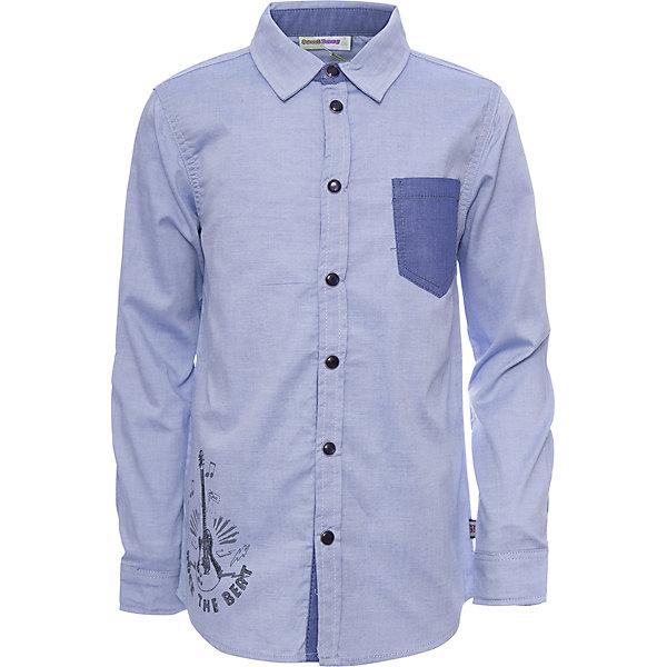 Рубашка Sweet Berry для мальчикаБлузки и рубашки<br>Характеристики товара:<br><br>• цвет: голубой;<br>• состав материала: 60% хлопок, 35% полиэстер, 5% эластан;<br>• сезон: демисезон;<br>• застежка: кнопки;<br>• длинные рукава;<br>• накладной нагрудный карман;<br>• страна бренда: Россия;<br>• страна производства: Китай.<br><br>Стильная трикотажная рубашка с накладным карманом контрастного цвета и модной заплаткой на локтях, декорированная принтом. Длинный рукав. Застегивается на кнопки. Отложной воротничок.<br><br>Рубашку Sweet Berry (Свит Берри) для мальчика можно купить в нашем интернет-магазине.<br>Ширина мм: 174; Глубина мм: 10; Высота мм: 169; Вес г: 157; Цвет: голубой; Возраст от месяцев: 24; Возраст до месяцев: 36; Пол: Мужской; Возраст: Детский; Размер: 98,128,122,116,110,104; SKU: 7094826;