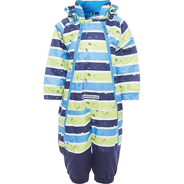 Комбинезон Sweet Berry для мальчикаВерхняя одежда<br>Характеристики товара:<br><br>• цвет: голубой, в полоску;<br>• ткань верха: 100% полиэстер;<br>• подкладка: 65% хлопок, 35% полиэстер;<br>• наполнитель: 100% полиэстер;<br>• сезон: демисезон;<br>• температурный режим: от -5 до +10С;<br>• особенности модели: с капюшоном;<br>• капюшон: съемный, без меха;<br>• застежка: две продольные молнии;<br>• капюшон с утяжкой;<br>• страна бренда: Россия;<br>• страна производства: Китай.<br><br>Яркий полосатый комбинезон для мальчика. Застегивается на две продольные молнии. Капюшон утягивается, обеспечивая плотное прилегание к голове для защиты от ветра и непогоды.<br><br>Комбинезон Sweet Berry (Свит Берри) для мальчика можно купить в нашем интернет-магазине.<br>Ширина мм: 356; Глубина мм: 10; Высота мм: 245; Вес г: 519; Цвет: голубой; Возраст от месяцев: 12; Возраст до месяцев: 15; Пол: Мужской; Возраст: Детский; Размер: 80,86,98,92; SKU: 7095291;