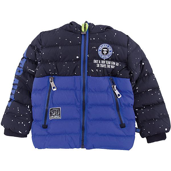 Куртка Sweet Berry для мальчикаВерхняя одежда<br>Характеристики товара:<br><br>• цвет: синий;<br>• ткань верха: 100% полиэстер;<br>• подкладка: 100% полиэстер, искусственный мех;<br>• наполнитель: 100% полиэстер;<br>• сезон: зима;<br>• температурный режим: от +5 до -15С;<br>• особенности модели: стеганая, с капюшоном;<br>• капюшон: без меха, несъемный;<br>• капюшон декорирован солнечными очками;<br>• застежка: молния с защитой подбородка;<br>• рукава на трикотажных манжетах;<br>• два кармана на молнии;<br>• страна бренда: Россия;<br>• страна производства: Китай.<br><br>Утепленная стеганная куртка выполнена из двух контрастных цветов. Несъемный капюшон со встроенными солнце-защитными очками. Капюшон застегивается до конца и имеет вентиляционную сетку. На куртке два прорезных кармана застегивающиеся на молнию. Рукава с мягкими трикотажными манжетами. Меховая подкладка. Куртка застегивается на молнию.<br><br>Куртку Sweet Berry (Свит Берри) для мальчика можно купить в нашем интернет-магазине.<br>Ширина мм: 356; Глубина мм: 10; Высота мм: 245; Вес г: 519; Цвет: синий; Возраст от месяцев: 12; Возраст до месяцев: 15; Пол: Мужской; Возраст: Детский; Размер: 80,98,92,86; SKU: 7095464;