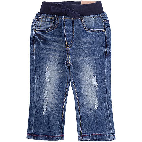 Джинсы Sweet Berry для мальчикаДжинсы<br>Характеристики товара:<br><br>• цвет: синий;<br>• состав материала: 98% хлопок, 2% спандекс;<br>• сезон: демисезон;<br>• пояс на резинке;<br>• страна бренда: Россия;<br>• страна производства: Китай.<br><br>Стильные эффектные брюки из вареной джинсовой ткани с эффектом потертости и прорезями на трикотажном эластичном поясе.<br><br>Джинсы Sweet Berry (Свит Берри) для мальчика можно купить в нашем интернет-магазине.<br>Ширина мм: 215; Глубина мм: 88; Высота мм: 191; Вес г: 336; Цвет: синий; Возраст от месяцев: 12; Возраст до месяцев: 18; Пол: Мужской; Возраст: Детский; Размер: 86,80,98,92; SKU: 7095534;