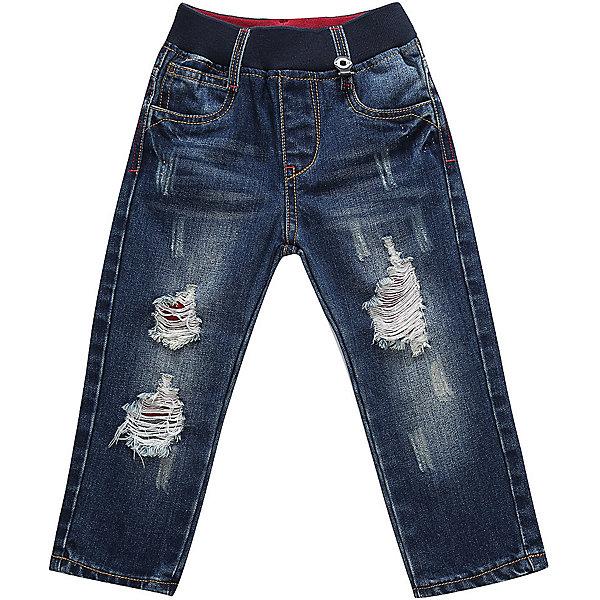 Брюки Sweet Berry для мальчикаДжинсы<br>Характеристики товара:<br><br>• цвет: синий;<br>• состав материала: 100% хлопок;<br>• сезон: демисезон;<br>• пояс на резинке;<br>• наличие шлевок для ремня;<br>• страна бренда: Россия<br>• страна производства: Китай<br><br>Модные джинсовые брюки для мальчика с эффектом рваной джинсы на мягком эластичном поясе. Прямой крой. Шлевки на поясе рассчитаны под ремень <br><br>Джинсы Sweet Berry (Свит Берри) для мальчика можно купить в нашем интернет-магазине.<br>Ширина мм: 215; Глубина мм: 88; Высота мм: 191; Вес г: 336; Цвет: синий; Возраст от месяцев: 12; Возраст до месяцев: 15; Пол: Мужской; Возраст: Детский; Размер: 80,98,92,86; SKU: 7095609;