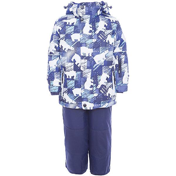 Комплект: куртка и полукомбинезон Sweet Berry для мальчикаКомплекты<br>Характеристики товара:<br><br>• цвет: синий;<br>• состав: куртка 100% полиэстер, штанины 100% нейлон;<br>• подкладка: 100% полиэстер, флис;<br>• наполнитель: 100% полиэстер;<br>• утеплитель: синтепух веох 220 г/м?, штанины 180 г/м? ;<br>• сезон: зима;<br>• температурный режим: от +5 до -35С;<br>• водонепроницаемость: 5000 мм;<br>• воздухопропускаемость: 5000г/м2;<br>• особенности модели: с капюшоном;<br>• капюшон: съемный, без меха;<br>• застежка: молния с защитой подбородка;<br>• капюшон дополнительно регулируется липучками;<br>• рукава с регулируемыми манжетами на липучке;<br>• два кармана на молнии;<br>• регулируемые лямки на брюках;<br>• ветрозащитная планка;<br>• съемные силиконовые штрипки;<br>• страна бренда: Россия;<br>• страна производства: Китай.<br><br>Комфортный и теплый костюм для мальчика из мембранной ткани. В конструкции учтены физиологические особенности малыша. Съемный капюшон на молниях с дополнительной утяжкой, спереди установлены две кнопки. Рукава с манжетами, регулируются липучкой. На куртке два кармана, застегивающиеся на молнию. Застежка-молния с внешней ветрозащитной планкой. <br><br>Брюки на регулируемых подтяжках гарантируют посадку по фигуре. Колени, задняя поверхность бедер и низ брюк дополнительно усилены сверхпрочным материалом. Силиконовые отстегивающиеся штрипки на брючинах. Ткань верха: мембрана 5000мм/5000г/м2/24h, waterproof, водонепроницаемая с грязеотталкивающей пропиткой. Пoдкладка: флис.<br><br>Комплект Sweet Berry (Свит Берри) для мальчика можно купить в нашем интернет-магазине.<br>Ширина мм: 356; Глубина мм: 10; Высота мм: 245; Вес г: 519; Цвет: синий; Возраст от месяцев: 18; Возраст до месяцев: 24; Пол: Мужской; Возраст: Детский; Размер: 92,116,110,104,98; SKU: 7095633;