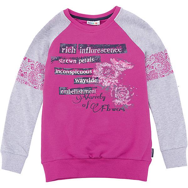 Luminoso Толстовка Luminoso для девочки толстовка для девочки твое цвет светло серый 57269 размер 104