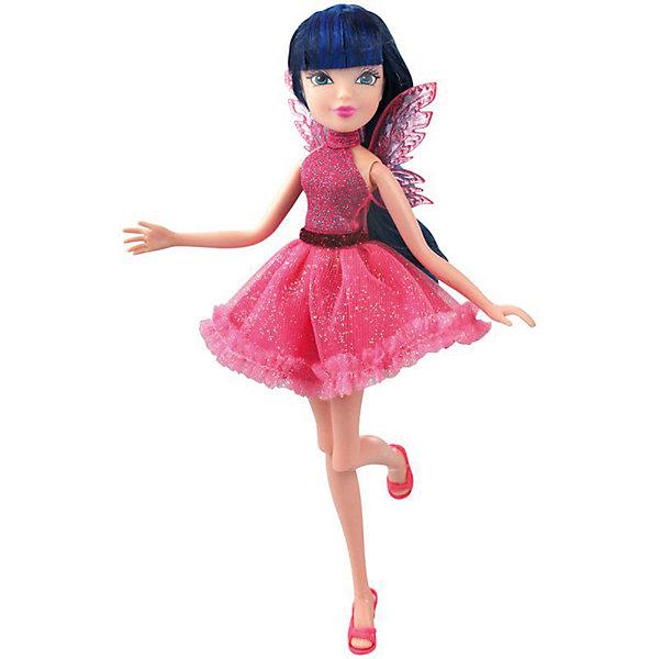 Кукла Winx Club Мода и магия-4 Муза, 31,5 смWinx Club<br>Характеристики товара:<br><br>• возраст: от 3 лет;<br>• материал: пластик;<br>• размер упаковки: 31х6х4 см;<br>• вес: 200 гр.;<br>•высота куклы: 29 см;<br>•упаковка: коробка;<br>•страна производитель: Китай;<br>• бренд: Winx Club.<br><br>Кукла Winx Club из коллекции «Мода и магия-4» Муза зовет на встречу приключениям каждую любительницу мультипликационного сериала Winx. Муза одета в мерцающее коктейльное платье розового цвета, а за спиной у феи невесомые крылышки. На ногах у неё - изящные розовые босоножки, которые нетрудно снимать и одевать.     <br><br>Длинные тёмные волосы куклы выполнены из гладкого нейлона высокого качества и надежно прошиты. Волосы можно без проблем расчесывать и укладывать, так как они не запутываются.<br><br>Ноги и руки у Музы подвижные, их можно сгибать в суставах и придавать фее различные позы. Кукла в точности повторяет черты лица своего мультипликационного прототипа: большие глаза, аккуратный носик и пухлые губки принадлежат феям Винкс.<br><br> Куклу Winx Club «Мода и магия-4» Муза можно купить в нашем интернет-магазине.<br>Ширина мм: 130; Глубина мм: 60; Высота мм: 315; Вес г: 225; Возраст от месяцев: 36; Возраст до месяцев: 120; Пол: Женский; Возраст: Детский; SKU: 7097665;