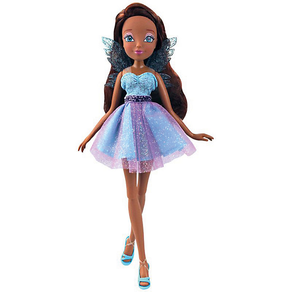 Кукла Winx Club Мода и магия-4 Лайла, 31,5 смПопулярные игрушки<br>Характеристики товара:<br><br>• возраст: от 3 лет;<br>• материал: пластик;<br>• размер упаковки: 31х6х4 см;<br>• вес: 200 гр.;<br>•высота куклы: 29 см;<br>•упаковка: коробка;<br>•страна производитель: Китай;<br>• бренд: Winx Club.<br><br>Кукла Winx Club из коллекции «Мода и магия-4» Лайла зовет на встречу приключениям каждую любительницу мультипликационного сериала Winx. <br><br>Лайла одета в сияющее коктейльное платье в фиолетовых и голубых оттенках. На ногах у куклы изящные бирюзовые босоножки, которые нетрудно снимать и одевать. А за спиной феи -невесомые голубые крылышки.<br><br>Длинные тёмные волосы куклы выполнены из гладкого нейлона высокого качества и надежно прошиты. Волосы можно без проблем расчесывать и укладывать, так как они не запутываются.<br><br>Ноги и руки у Лайлы подвижные, их можно сгибать в суставах и придавать фее различные позы. Кукла в точности повторяет черты лица своего мультипликационного прототипа: большие глаза, аккуратный носик и пухлые губки принадлежат феям Винкс.<br><br> Куклу Winx Club «Мода и магия-4» Лайла можно купить в нашем интернет-магазине.<br>Ширина мм: 130; Глубина мм: 60; Высота мм: 315; Вес г: 225; Возраст от месяцев: 36; Возраст до месяцев: 120; Пол: Женский; Возраст: Детский; SKU: 7097666;