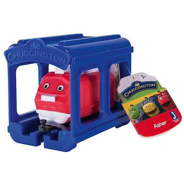 Jazwares Паровозик Chuggington, Ашер с гаражом