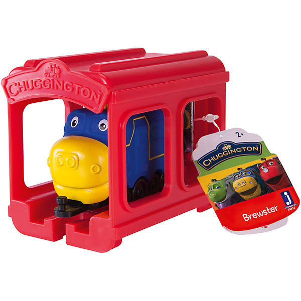 Jazwares Паровозик Jazwares Chuggington, Брюстер с гаражом chuggington chuggington die cast паровозик гаррисон