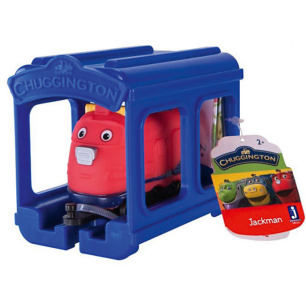 Jazwares Паровозик Jazwares Chuggington, Джекман с гаражом chuggington chuggington die cast паровозик гаррисон