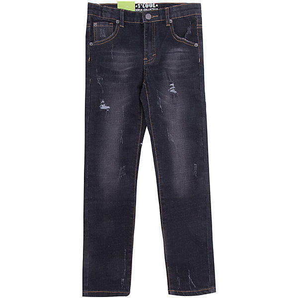 Джинсы Scool для мальчикаДжинсы<br>Характеристики товара:<br><br>• цвет: черный;<br>• состав; 98% хлопок, 2% эластан;<br>• сезон: демисезон;<br>• особенности: с потертостями;<br>• застежка: ширинка на молнии и пуговица;<br>• джинсы с потертостями;<br>• наличие шлевок для ремня;<br>• карманы;<br>• коллекция: рок-фестиваль;<br>• страна бренда: Германия;<br>• страна изготовитель: Китай.<br><br>Джинсы Scool для мальчика. Брюки джинсы из натурального хлопка. Классическая модель со шлевками. При необходимости можно использовать ремень. В качестве декора использованы потертости.<br><br>Джинсы Scool для мальчика (Скул) можно купить в нашем интернет-магазине.<br>Ширина мм: 215; Глубина мм: 88; Высота мм: 191; Вес г: 336; Цвет: черный; Возраст от месяцев: 96; Возраст до месяцев: 108; Пол: Мужской; Возраст: Детский; Размер: 134,164,158,152,146,140; SKU: 7104751;