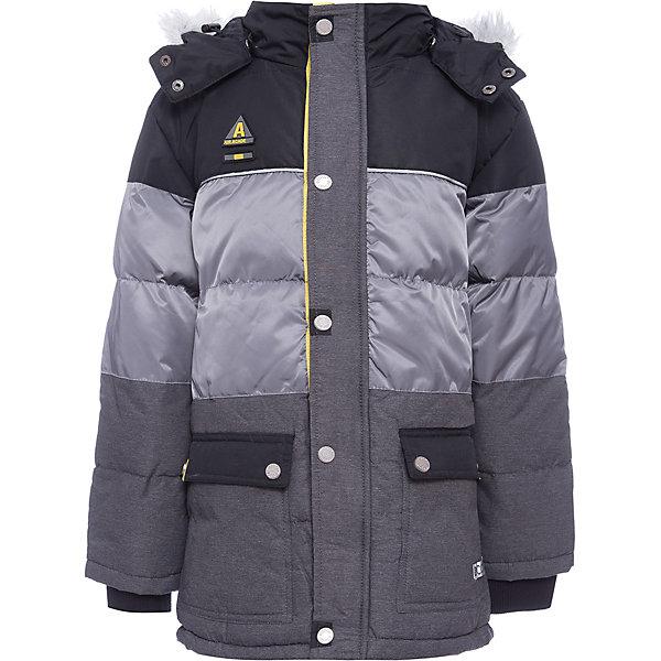 Куртка Scool для мальчикаВерхняя одежда<br>Характеристики товара:<br><br>• цвет: серый/черный;<br>• состав; 100% полиэстер;<br>• подкладка: 100% полиэстер, флис;<br>• утеплитель; 100% полиэстер, 300 г/м2;<br>• сезон: зима;<br>• температурный режим: от 0 до -25С;<br>• водоотталкивающая пропитка;<br>• застежка: молния с защитой подбородка;<br>• съемный капюшон на кнопках;<br>• искусственный мех на капюшоне не съемный;<br>• сплошная флисовая подкладка;<br>• снегозащитная юбка;<br>• низ изделия регулируется шнурком-кулиской;<br>• два накладных кармана;<br>• коллекция: милитари;<br>• страна бренда: Германия;<br>• страна изготовитель: Китай.<br><br>Куртка Scool для мальчика. Теплая куртка из ткани с водоотталкивающей пропиткой - отличное решение для холодной погоды. Капюшон на кнопках, при необходимости его можно отстегнуть. Контур капюшона декорирован искуссвенным мехом. Подкладка из теплого флиса яркого цвета. Модель со снегозащитной юбкой. Низ изделия дополнен регулируемым шнуром - кулиской. Куртка дополнена накладными карманами.<br><br>Куртку Scool для мальчика (Скул) можно купить в нашем интернет-магазине.<br>Ширина мм: 356; Глубина мм: 10; Высота мм: 245; Вес г: 519; Цвет: белый; Возраст от месяцев: 96; Возраст до месяцев: 108; Пол: Мужской; Возраст: Детский; Размер: 134,164,158,152,146,140; SKU: 7104852;