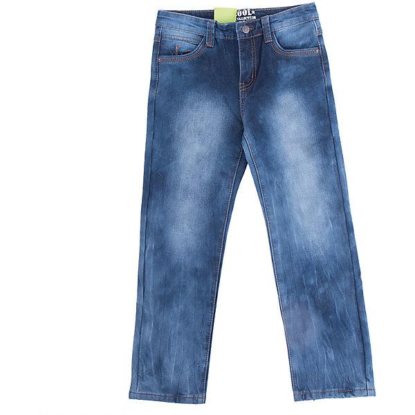 Джинсы Scool для мальчикаДжинсовая одежда<br>Характеристики товара:<br><br>• цвет: синий;<br>• состав: 50% хлопок, 50% полиэстер;<br>• шлевки для ремня;<br>• карманы;<br>• коллекция: милитари;<br>• страна бренда: Германия;<br>• страна изготовитель: Китай.<br><br>Джинсы Scool для мальчика. Брюки джинсы из смесовой ткани, с высоким содержанием хлопка. Классическая модель со шлевками, при необходимости можно использовать ремень. Брюки дополнены карманами.<br><br>Джинсы Scool для мальчика (Скул) можно купить в нашем интернет-магазине.<br>Ширина мм: 215; Глубина мм: 88; Высота мм: 191; Вес г: 336; Цвет: синий; Возраст от месяцев: 96; Возраст до месяцев: 108; Пол: Мужской; Возраст: Детский; Размер: 134,164,158,152,146,140; SKU: 7105027;