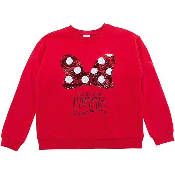 S'cool Толстовка S'cool для девочки disney аппликация пайетками самой модной минни маус