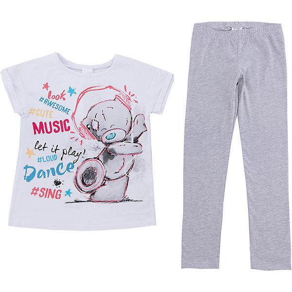 Пижама Scool для девочкиКомплекты<br>Характеристики товара:<br><br>• цвет: белый/серый;<br>• состав: 95% хлопок, 5% эластан;<br>• сезон: демисезон<br>• особенности: с рисунком;<br>• принт: Мишка Тедди;<br>• в комплекте: леггинсы и футболка;<br>• брюки на мягкой резинке;<br>• коллекция: Домашний уют;<br>• страна бренда: Германия;<br>• страна изготовитель: Китай.<br><br>Комплект: футболка и брюки Scool для девочки. Комплект из футболки и брюк из натурального хлопка. Футболка с коротким рукавом, дополнена нежным лицензированным принтом. Брюки на широкой мягкой резинке, не сдавливающей живот ребенка.<br><br>Пижаму для девочки (Скул) можно купить в нашем интернет-магазине.<br>Ширина мм: 356; Глубина мм: 10; Высота мм: 245; Вес г: 519; Цвет: белый; Возраст от месяцев: 96; Возраст до месяцев: 108; Пол: Женский; Возраст: Детский; Размер: 134,164,158,152,146,140; SKU: 7105878;