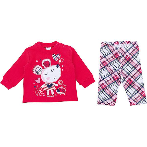 PlayToday Комплект: футболка с длинным рукавом и брюки PlayToday для девочки playtoday комплект боди брюки шапочка playtoday для девочки