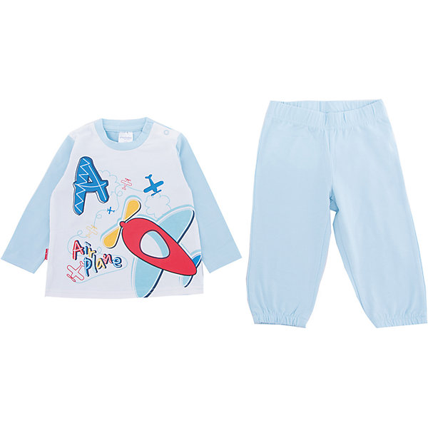 PlayToday Комплект: футболка и брюки PlayToday для мальчика playtoday playtoday брюки для мальчика  голубые