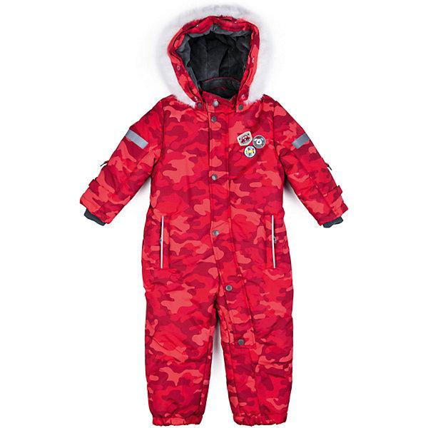 Комбинезон PlayToday для мальчикаВерхняя одежда<br>Характеристики товара:<br><br>• цвет: красный<br>• состав ткани: 100% полиэстер<br>• подкладка: 80% хлопок, 20% полиэстер<br>• утеплитель: 100% полиэстер<br>• сезон: зима<br>• температурный режим: от -20 до +5<br>• плотность утеплителя: 300 г/м2<br>• особенности модели: с капюшоном<br>• застежка: молния, кнопки<br>• капюшон: с мехом, съемный<br>• длинные рукава<br>• страна бренда: Германия<br>• страна изготовитель: Китай<br><br>Комбинезон для мальчика снабжен удобными кнопками и молниями. Детский комбинезон имеет удобный капюшон. Комбинезон для детей сделан из легких качественных материалов. Детская одежда и обувь от европейского бренда PlayToday - выбор многих родителей. <br><br>Комбинезон PlayToday (ПлэйТудэй) для мальчика можно купить в нашем интернет-магазине.<br>Ширина мм: 157; Глубина мм: 13; Высота мм: 119; Вес г: 200; Цвет: красный; Возраст от месяцев: 6; Возраст до месяцев: 9; Пол: Мужской; Возраст: Детский; Размер: 80,74,92,86; SKU: 7109864;