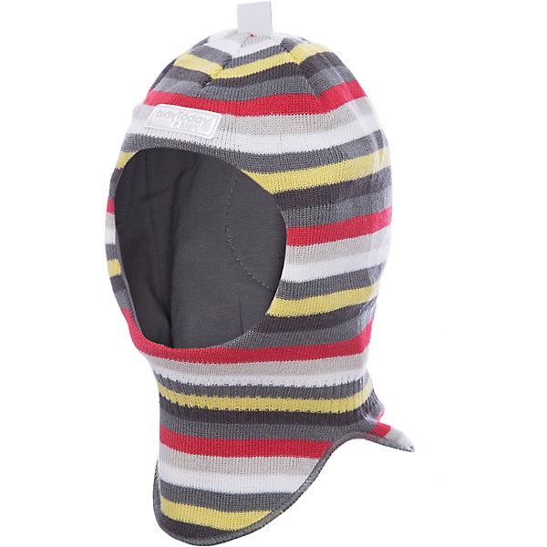 Шапка-шлем PlayToday для мальчикаШапочки<br>Характеристики товара:<br><br>• цвет: серый<br>• состав ткани: 100% акрил<br>• подкладка: 100% хлопок<br>• сезон: демисезон<br>• страна бренда: Германия<br>• страна изготовитель: Китай<br><br>Детская одежда и обувь от европейского бренда PlayToday - выбор многих родителей. Детская шапка-шлем комфортно сидит на голове благодаря мягкому материалу. Шапка-шлем для детей дополнена светоотражающими элементами. Шапка для мальчика выполнена в красивой расцветке. <br><br>Шапку-шлем PlayToday (ПлэйТудэй) для мальчика можно купить в нашем интернет-магазине.<br>Ширина мм: 89; Глубина мм: 117; Высота мм: 44; Вес г: 155; Цвет: белый; Возраст от месяцев: 12; Возраст до месяцев: 18; Пол: Мужской; Возраст: Детский; Размер: 48,46; SKU: 7109984;
