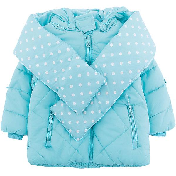 Куртка PlayToday для девочкиВерхняя одежда<br>Характеристики товара:<br><br>• цвет: бирюзовый<br>• состав ткани: 100% полиэстер<br>• подкладка: 80% хлопок, 20% полиэстер<br>• утеплитель: 100% полиэстер<br>• сезон: зима<br>• температурный режим: от -20 до +5<br>• плотность утеплителя: 300 г/м2<br>• особенности модели: с капюшоном и шарфом<br>• застежка: молния<br>• капюшон: с помпоном, несъемный<br>• длинные рукава<br>• страна бренда: Германия<br>• страна изготовитель: Китай<br><br>Детская одежда и обувь от PlayToday - это стильные вещи по доступным ценам. Эта детская куртка - из ткани со светоотражателями. Утепленная куртка для девочки выполнена в красивой яркой расцветке. Куртка для детей дополнена капюшоном. <br><br>Куртку PlayToday (ПлэйТудэй) для девочки можно купить в нашем интернет-магазине.<br>Ширина мм: 356; Глубина мм: 10; Высота мм: 245; Вес г: 519; Цвет: голубой; Возраст от месяцев: 12; Возраст до месяцев: 18; Пол: Женский; Возраст: Детский; Размер: 80,74,92,86; SKU: 7110267;