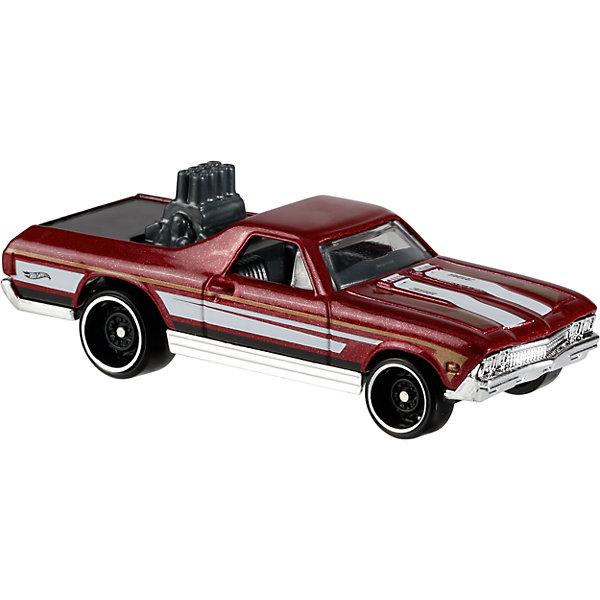 Базовая машинка Hot Wheels, 68 El CaminoМашинки<br>Характеристики товара:<br><br>• возраст: от 3 лет;<br>• материал: пластик, металл;<br>• масштаб: 1:64;<br>• размер упаковки: 11х11х4,5 см;<br>• вес упаковки: 30 гр.;<br>• страна бренда: США.<br><br>Машинка Hot Wheels из базовой коллекции — легендарная коллекционная машинка от известного бренда Mattel. Машинка отличается высокой детализацией, выглядит эффектно, корпус выполнен в ярких расцветках. Она дополнит большую коллекцию машинок Hot Wheels. Выполнена из прочных и безопасных материалов.<br><br>Машинку Hot Wheels из базовой коллекции можно приобрести в нашем интернет-магазине.<br>Ширина мм: 110; Глубина мм: 45; Высота мм: 110; Вес г: 30; Возраст от месяцев: 36; Возраст до месяцев: 96; Пол: Мужской; Возраст: Детский; SKU: 7111086;