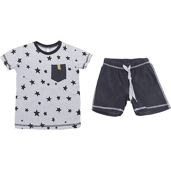 Комплект: футболка и шорты PlayToday для мальчикаКомплекты<br>Характеристики товара:<br><br>• цвет: серый<br>• комплектация: футболка и шорты<br>• состав ткани: 95% хлопок, 5% эластан<br>• сезон: лето<br>• особенность модели: спортивный стиль<br>• короткие рукава<br>• пояс: резинка, шнурок<br>• страна бренда: Германия<br>• страна изготовитель: Китай<br><br>Такой комплект для мальчика подойдет для занятий спортом. Трикотажный детский комплект состоит из футболки и шорт. Комплект для детей сделан из легких качественных материалов. Детская одежда и обувь от европейского бренда PlayToday - выбор многих родителей. <br><br>Комплект: футболка и шорты PlayToday (ПлэйТудэй) для мальчика можно купить в нашем интернет-магазине.<br>Ширина мм: 199; Глубина мм: 10; Высота мм: 161; Вес г: 151; Цвет: белый; Возраст от месяцев: 24; Возраст до месяцев: 36; Пол: Мужской; Возраст: Детский; Размер: 98,128,122,116,110,104; SKU: 7111525;