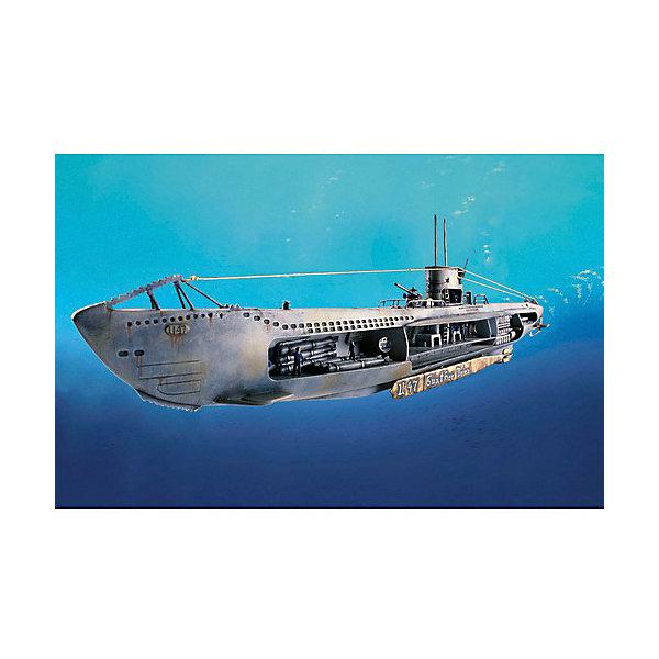Немецкая подводная лодка U-47 w.InteriorКорабли и подводные лодки<br>Немецкая подводная лодка U-47 поступила на службу в декабре 1938 года. А в ночь на 14 октября 1939 года ей удалось пробраться незамеченной на британскую военно-морскую базу в Скапа-Флоу, потопить линкор H.M.S. Royal Oak всего несколькими залпами и также незамеченной вернуться на свою базу.  <br><br> Восхитительная сборная модель немецкой подводной лодки U-47 является абсолютно точной уменьшенной копией своего прототипа в масштабе 1:125. Макет лодки проработан в мельчайших подробностях. Сбоку модели открыт взгляду детализированный внутренний интерьер подводного судна с перегородками. Аккуратно выполненные, приближенные к оригиналу панель приборов, торпеды, спальные помещения, капитанская рубка, палубные орудия 8,8 см, а также члены экипажа позволят достичь ощущения, что вы находитесь на борту знаменитой немецкой подлодки. Всего модель состоит из 124 отдельных деталей, которые необходимо собрать воедино и склеить, а затем покрыть краской в соответствии с инструкцией в комплекте. Длина готовой модели после сборки составляет 531 мм.  <br><br> Великолепная сборная модель немецкой подводной лодки U-47 с интерьером разработана немецкой компанией Revell для детей от 10 лет. Макет настоящей подлодки с детализированным интерьером и членами экипажа, несомненно, обрадует не только юных любителей моделирования, но и взрослых его поклонников и коллекционеров военной техники. Моделирование – один из наиболее полезных и увлекательных хобби. Оно превосходно тренирует мелкую моторику, развивает такие навыки как усидчивость, аккуратность и внимательность. Кроме того, развивается пространственное мышление, логика и креативность.<br>Ширина мм: 368; Глубина мм: 59; Высота мм: 238; Вес г: 428; Возраст от месяцев: 120; Возраст до месяцев: 2147483647; Пол: Мужской; Возраст: Детский; SKU: 7122344;