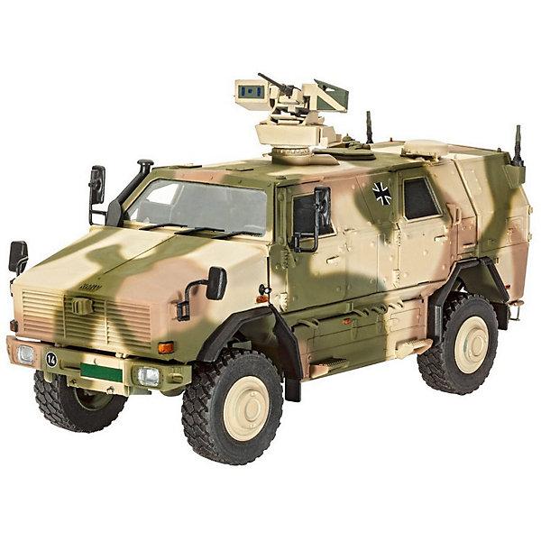 Броневик ATF Dingo 2 A3.3 PatSiВоенная техника и панорама<br>Отличный подарок для моделиста увлекающегося современной бронетехникой.  Модель немецкого броневика Dingo 2 GE A3.3 PatSi выполнена из пластика в масштабе 1:35. Для сборки понадобится клей и краска для покраски. Эти аксессуары приобретаются отдельно и в комплект не входят. <br> Данная модификация Dingo 2 использовалась Бундесвером в Афганистане с 2012 года для разведки и безопасного перемещения. Броневик имеют повышенную защиту от мин. Вместимость машины – 6 человек.  Модификация A3.3 PatSi оснащалась пулеметом FLW 200 и автоматическим гранатометом 40 мм. Кроме того на машину установлены более совершенные приборы ночного видения. <br><br>Длина собранной модели: 17,5 см <br>Количество деталей: 238 <br>Рекомендуется для детей от 12 лет.<br>Ширина мм: 368; Глубина мм: 59; Высота мм: 238; Вес г: 560; Возраст от месяцев: 144; Возраст до месяцев: 2147483647; Пол: Мужской; Возраст: Детский; SKU: 7122349;
