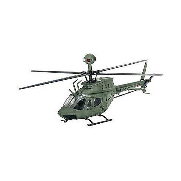Вертолет Bell OH-58D KiowaСамолеты и вертолеты<br>ОН-58 является военной версией гражданского вертолета Bell® 206 Jet Ranger.Первая из этих машин была доставлены в армию США в начале 1969 года Многочисленные усовершенствования конструкций привели к появлению версии  ОН-58D, который была впервые поставлена в 1985 г. Вертолет обзавелся четырьмя лопастями, более мощным двигателем, а также улучшенными средствами навигации и связи.  <br><br>Сборная модель вертолета Bell OH-58D Kiowa выполнена из пластика в масштабе 1/72. Для сборки вам потребуется клей. Рекомендуется использовать клей Revell для пластика. Для последующей покраски модели вам понадобятся краски - эмалевые или акриловые. Вы их можете приобрести в нашем магазине. <br><br>Внимание! Все расходные материалы в этот набор не входят. Они приобретаются отдельно! <br><br>Масштаб 1:72 <br>Количество деталей 43 <br>Длина модели в собранной виде 13,9 см<br>Ширина мм: 207; Глубина мм: 132; Высота мм: 34; Вес г: 110; Возраст от месяцев: 120; Возраст до месяцев: 2147483647; Пол: Мужской; Возраст: Детский; SKU: 7122350;