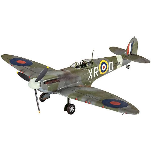 Сборная модель Истребитель Spitfire Mk.II  1/48Самолеты и вертолеты<br>Сборная модель британского истребителя Supermarine Spitfire Mk.II. Самолет активно применялся во время Второй Мировой войны. <br>Все детали модели изготовлены из пластика. Их необходимо склеить. Для этого рекомендуется использовать специальный клей для пластика. После сбора модель необходимо будет покрасить. Для этого лучше использовать акриловые или эмалевые краски Revell. Все расходные материалы приобретаются отдельно. В данный набор они не входят! <br>В наборе присутствует декаль (переводные наклейки) для создания модели самолета из эскадрильи 71 Eagle Squadron в августе 1941 года. <br>Масштаб модели: 1/48 <br>Длина модели в собранном виде: 18,8 см  <br>Размах крыльев:  22,5 см  <br>Количество деталей: 34  <br>Модель рекомендуется для детей и взрослых в возрасте от 10 лет.<br>Ширина мм: 183; Глубина мм: 46; Высота мм: 311; Вес г: 240; Возраст от месяцев: 120; Возраст до месяцев: 2147483647; Пол: Мужской; Возраст: Детский; SKU: 7122355;