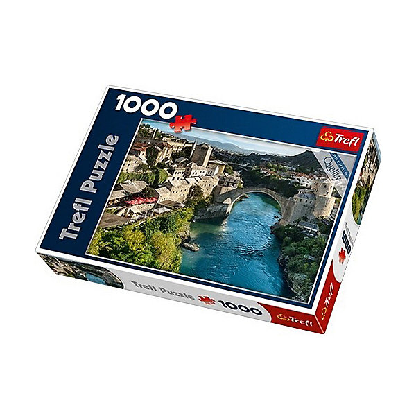 Пазлы Trefl Старый мост в городе Мостар, Босния и Герцеговина, 1000 элементовПазлы классические<br>Характеристики товара:<br><br>• количество деталей: 1000 шт.;<br>• размер картинки: 68х48см;<br>• возраст: от 7 лет;<br>• материал: картон;<br>• размер упаковки: 40х27х4,5 см;<br>• страна бренда: Польша;<br>• страна производитель: Польша.<br><br>Собирание пазлов - невероятно полезное и увлекательное занятие. Оно прекрасно развивает моторику рук, концентрацию внимания, аккуратность, мышление и усидчивость. Пазлы изготовлены из качественных материалов, устойчивых к деформации.<br><br>На картинке пазлов изображен старый мост города Мостар, расположенного в Боснии и Герцеговине. Потрясающий пейзаж станет настоящим украшением комнаты. Готовую картинку можно поставить в рамочку. Пазлы долго сохраняют приятный вид и не выцветают.<br><br>Пазлы Старый мост в городе Мостар, Босния и Герцеговина, 1000 элементов, Trefl (Трефл) можно купить в нашем интернет-магазине.<br>Ширина мм: 400; Глубина мм: 270; Высота мм: 60; Вес г: 750; Возраст от месяцев: 84; Возраст до месяцев: 144; Пол: Унисекс; Возраст: Детский; SKU: 7126306;