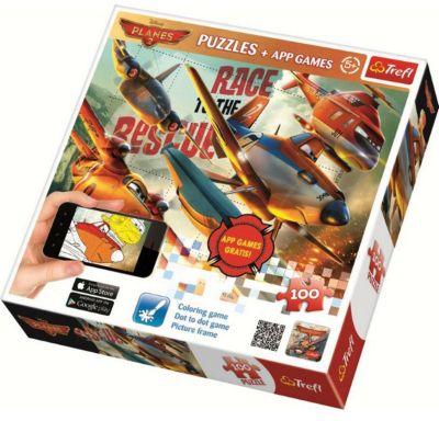 Пазлы Trefl Самолёты 2, 100 деталей + мобильное приложение, артикул:7126308 - Самолеты