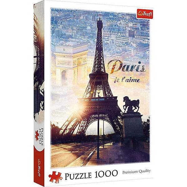 Trefl Пазлы Trefl Париж на рассвете, 1000 деталей пазлы trefl 10357