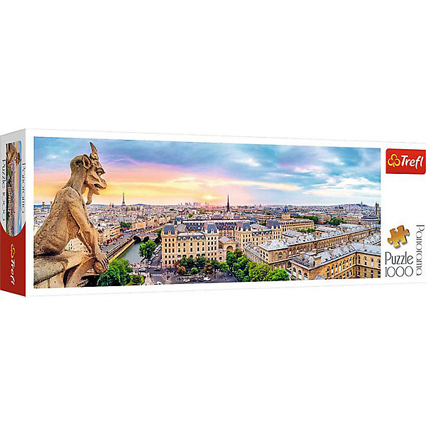 Trefl Пазлы панорамные Trefl «Вид с собора Нотр-Дам», 1000 элементов нотр дам сборная модель с историей