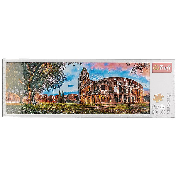 Trefl Пазлы панорамные «Колизей утром», 1000 элементов trefl классические пазлы для малышей дикие животные 1 от 2 лет
