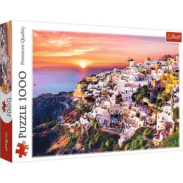 Trefl Пазлы «Закат над Санторини», 1000 деталей пазлы ravensburger паззл маяк на полуострове брус 1000 шт
