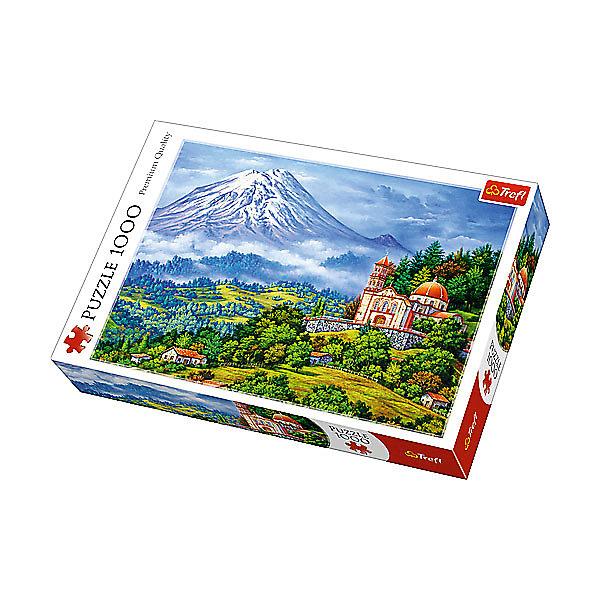 Trefl Пазлы «Пейзаж с вулканом», 1000 деталей trefl пазлы кони в галопе 1000 элементов