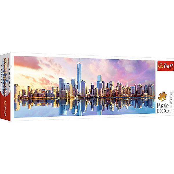 Trefl Пазлы панорамные «Манхеттен», 1000 деталей пазлы ravensburger паззл маяк на полуострове брус 1000 шт