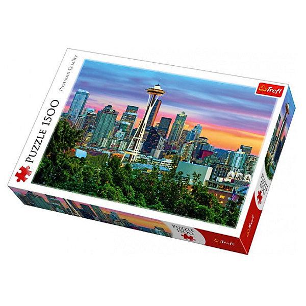 Trefl Пазлы «Спейс Нидл, Сиэтл, США», 1500 деталей пазл спейс нидл сиэтл trefl 1500 деталей