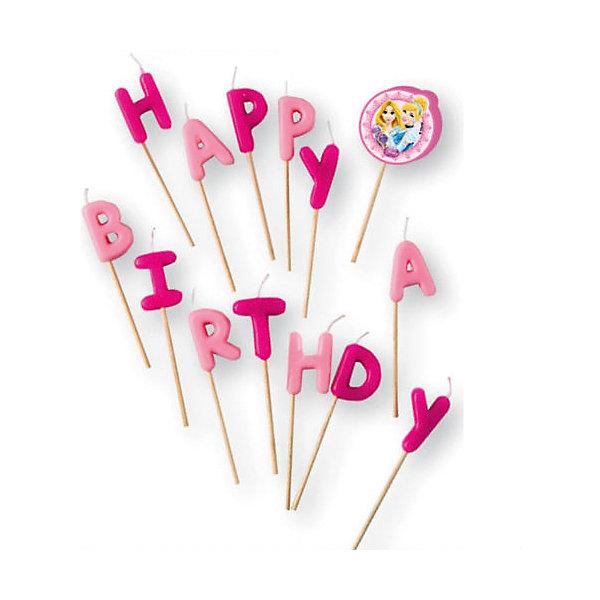 Procos Свечи-буквы Принцессы Disney - Сказочный мир Happy Birthday
