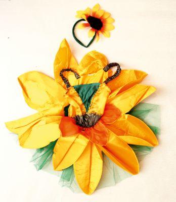 Детский маскарадный костюм  Девочка-Подсолнух , артикул:7128973 - Детские карнавальные костюмы и аксессуары