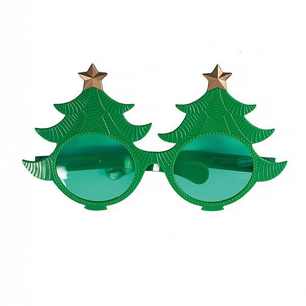 Magic Time Карнавальные очки Елки из пластика очки карнавальные magic time сливки 75259