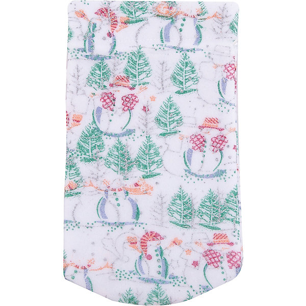 где купить Magic Time Мешок новогодний для подарков Снеговик и Елка 30*15 см арт.42537 из полиэстра дешево