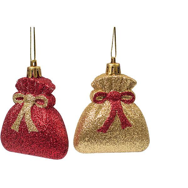 Magic Time Новогоднее подвесное украшение из пластика, набор 2 шт., 75450