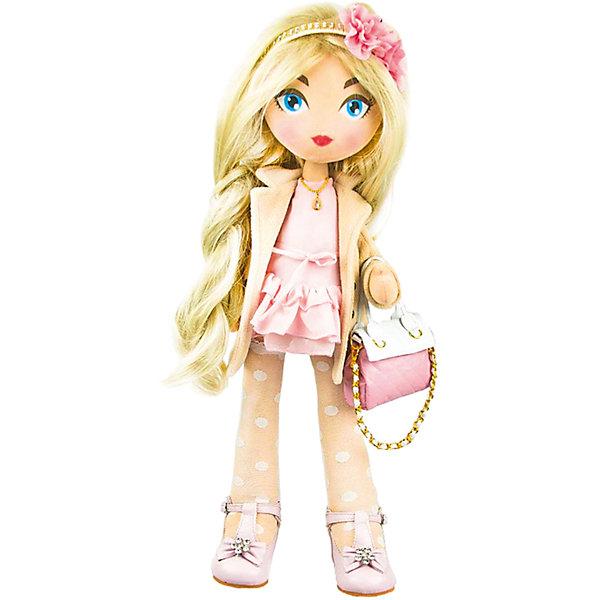 Мягкая кукла Daisy Design Romantic, 55 смКуклы<br>Характеристики товара:<br><br>• возраст: от 3 лет;<br>• материал: текстиль;<br>• высота куклы: 55 см;<br>• размер упаковки: 57х18х15 см;<br>• вес упаковки: 1,263 кг;<br>• страна производитель: Китай.<br><br>Кукла Daisy Design Romantic — очаровательная кукла с большими голубыми глазами и длинными светлыми волосами. Волосы можно расчесывать, украшать и заплетать. Кукла одета в розовое платье, пальто, туфельки. Дополняют образ ободок на голове с цветком и сумочка. Кукла полностью выполнена из мягкого текстиля, каркас жесткий.<br><br>Куклу Daisy Design Romantic можно приобрести в нашем интернет-магазине.<br>Ширина мм: 180; Глубина мм: 570; Высота мм: 150; Вес г: 1263; Возраст от месяцев: 36; Возраст до месяцев: 2147483647; Пол: Женский; Возраст: Детский; SKU: 7129607;