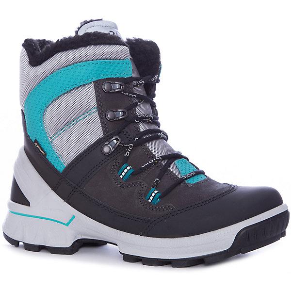 Купить Ботинки ECCO для мальчика, Индонезия, серый, Мужской
