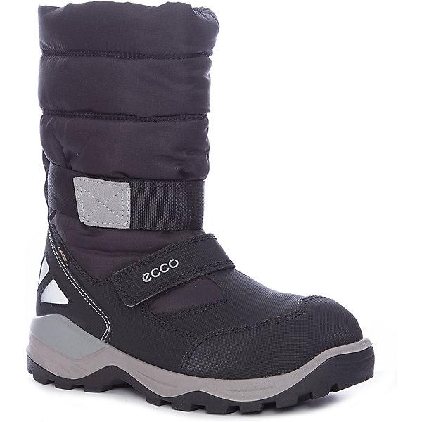 Сапоги ECCO для девочкиСапоги<br>Характеристики товара:<br><br>• цвет: черный<br>• внешний материал: искусственная кожа, текстиль<br>• внутренний материал: полиакрил, полиэстер<br>• стелька: термостелька - полиэстер<br>• подошва: полимер<br>• сезон: зима<br>• мембранные<br>• температурный режим: от -35 до 0<br>• особенности модели: спортивный стиль<br>• застежка: липучка<br>• защита мыса <br>• подошва не скользит<br>• анатомические<br>• страна бренда: Дания<br>• страна изготовитель: Китай<br><br>Высокие мембранные сапоги сделаны из качественных прочных материалов. Сапоги ECCO в спортивном стиле обеспечивают ногам комфортный микроклимат. Стильный дизайн детских сапог делает их комфортными и оригинальными. <br><br>Сапоги ECCO (ЭККО) можно купить в нашем интернет-магазине.<br>Ширина мм: 257; Глубина мм: 180; Высота мм: 130; Вес г: 420; Цвет: черный/серый; Возраст от месяцев: 156; Возраст до месяцев: 1188; Пол: Женский; Возраст: Детский; Размер: 38,36,40,39,37; SKU: 7129795;